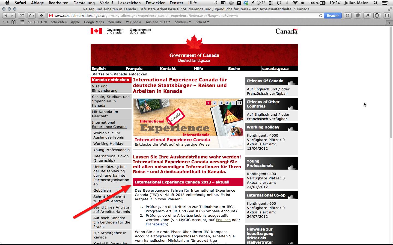Aktuelle Meldung der kanadischen Botschaft