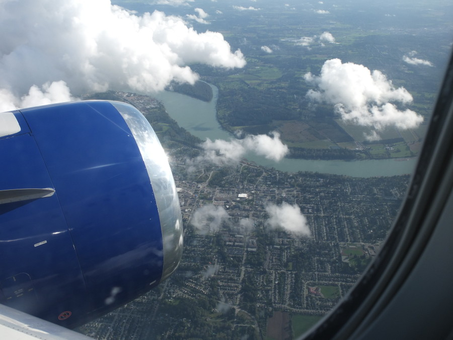 Anflug auf Vancouver