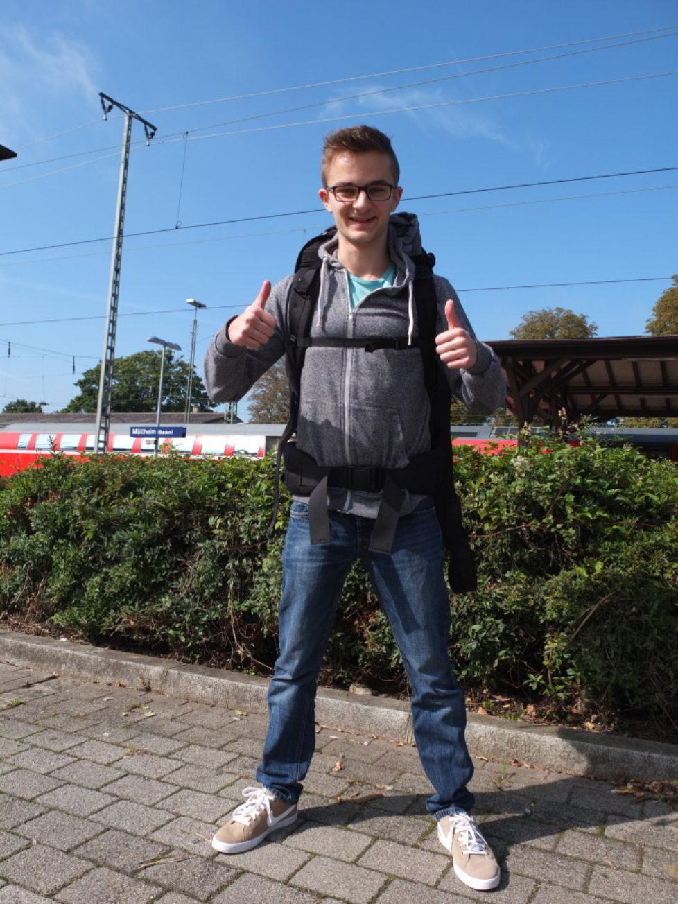 Am Bahnhof von Müllheim werden noch einmal letzte Bilder gemacht.