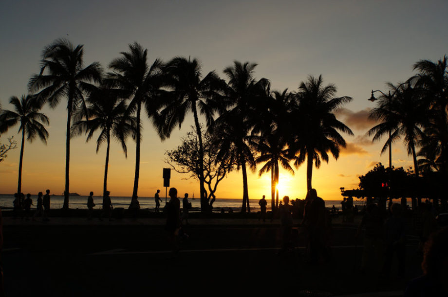 Sonnenuntergang in Hawaii