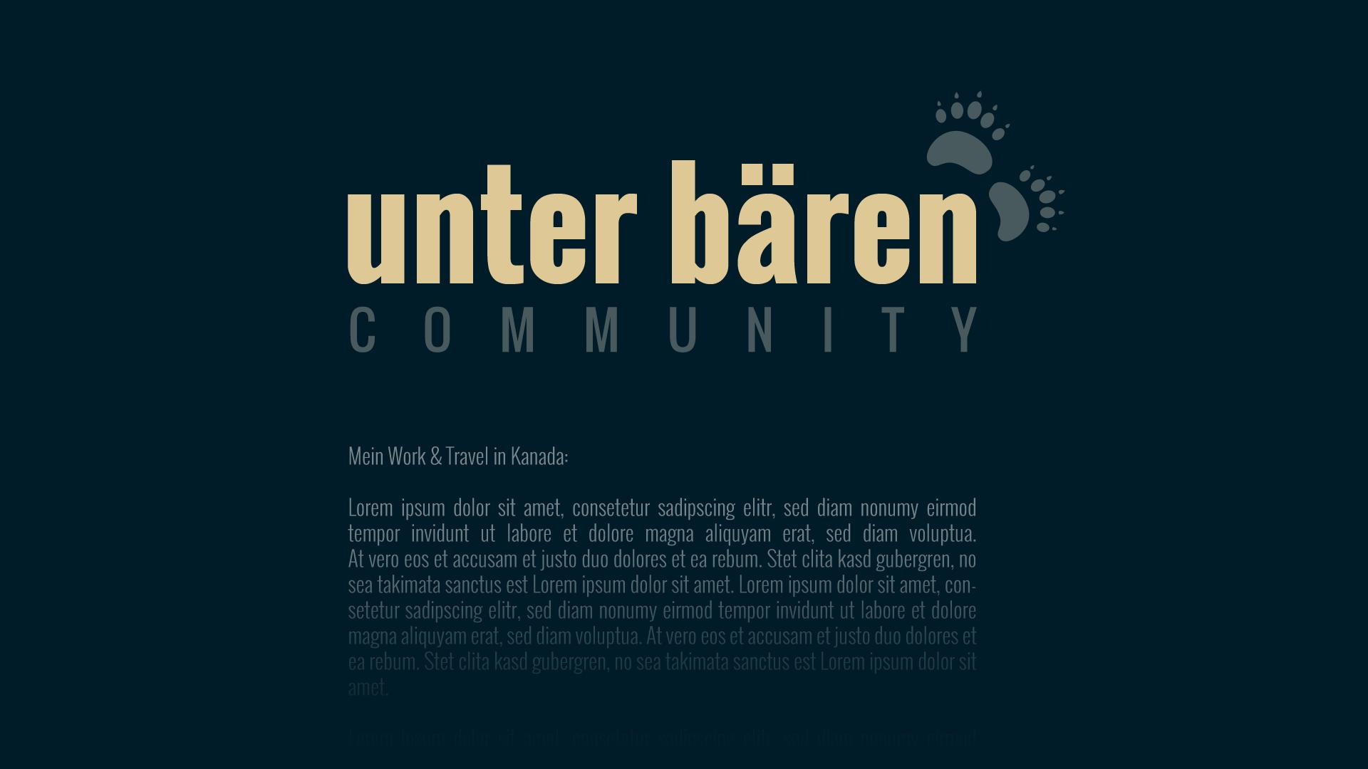 Unter Bären wird erweitert: Die Unter Bären Community wird vorgestellt.